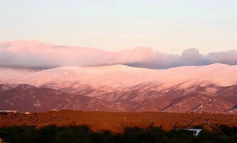 Le montagne Sangre de Cristo ad est di Santa Fe