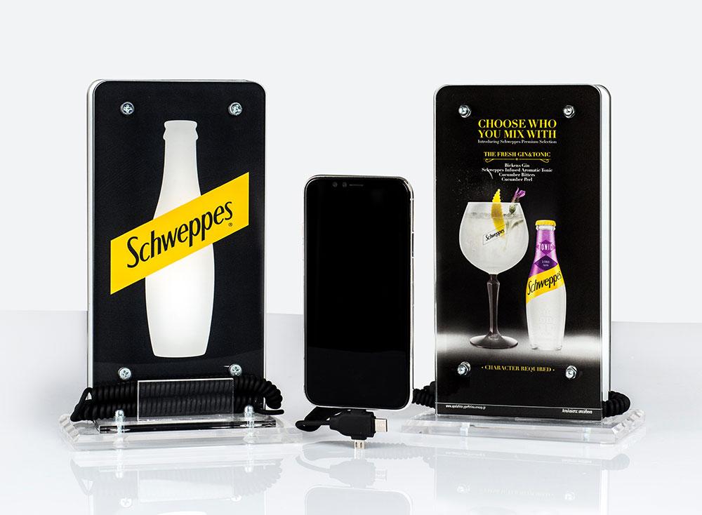 Power Up Spot® Επιτραπέζιος Φορτιστής για Καφετέριες, Μπαρ, Εστιατόρια, Ξενοδοχεία, με Λογότυπο