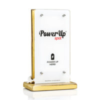 Power Up Spot® Table Top Professional Charger for Cafe, Bars, Restaurants, Hotels etc with custom Printing