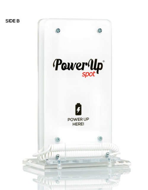 Power Up Spot® Table Top Charger with Customization for Cafe, Bars, Restaurants, Hotels etc
