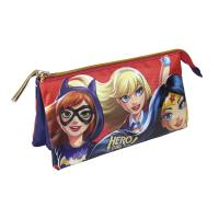 MULTI FUNCTIONAL CASE  FLAT DC SUPERHERO GIRLS