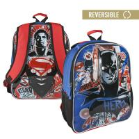MOCHILA ESCOLAR REVERSIBLE  BATMANVSSUPERMAN