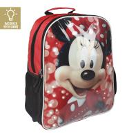 MOCHILA ESCOLAR LUCES MINNIE