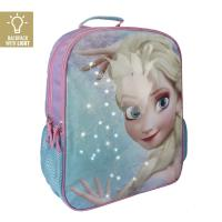MOCHILA ESCOLAR LUCES FROZEN