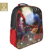 BACKPACK SCHOOL LIGHTS LADY BUG