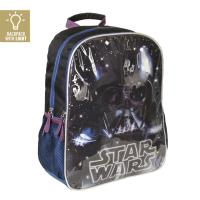 MOCHILA ESCOLAR LUCES STAR WARS