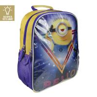 BACKPACK SCHOOL LIGHTS MINIONS