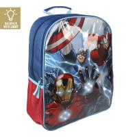 BACKPACK SCHOOL LIGHTS AVENGERS