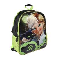 BACKPACK SCHOOL REVERSIBLE LADY BUG CAT NOIR 1