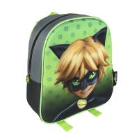 ZAINO INFANTILE 3D LADY BUG CAT NOIR