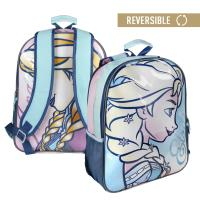 MOCHILA ESCOLAR REVERSIBLE FROZEN
