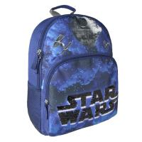 BACKPACK SCHOOL SEQUINS STAR WARS 1