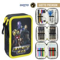 FILLED PENCIL CASE TRIPLE GIOTTO PREMIUM AVENGERS