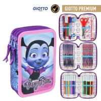 FILLED PENCIL CASE TRIPLE GIOTTO PREMIUM VAMPIRINA