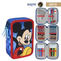 FILLED PENCIL CASE TRIPLE GIOTTO MICKEY