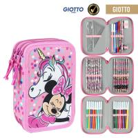 FILLED PENCIL CASE TRIPLE GIOTTO MINNIE