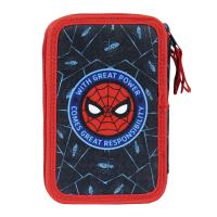 FILLED PENCIL CASE TRIPLE GIOTTO SPIDERMAN 1