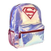 MOCHILA CASUAL MODA IRIDISCENTE SUPERMAN