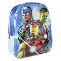 KIDS BACKPACK 3D PREMIUM METALLIZED AVENGERS