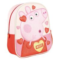 BACKPACK NURSERY 3D PREMIUM GLITTER PEPPA PIG