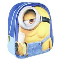KIDS BACKPACK 3D PREMIUM IMITATION-SUEDE MINIONS