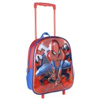 ZAINO CARRELLO INFANTILE 3D METALIZADA SPIDERMAN