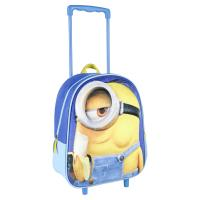TROLLEY 3D NURSERY IMITATION-SUEDE MINIONS