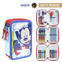FILLED PENCIL CASE TRIPLE GIOTTO PREMIUM PVC MICKEY