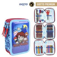 FILLED PENCIL CASE TRIPLE GIOTTO PREMIUM PVC HARRY POTTER