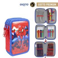 FILLED PENCIL CASE TRIPLE GIOTTO PREMIUM METALIZADA SPIDERMAN