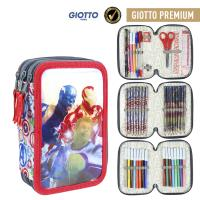 FILLED PENCIL CASE TRIPLE GIOTTO PREMIUM METALLIZED AVENGERS