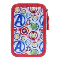 FILLED PENCIL CASE TRIPLE GIOTTO PREMIUM METALLIZED AVENGERS 1