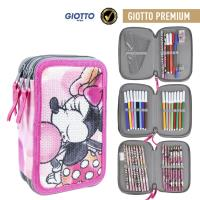 FILLED PENCIL CASE TRIPLE GIOTTO PREMIUM LENTEJUELAS MINNIE