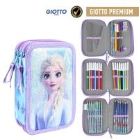 FILLED PENCIL CASE TRIPLE GIOTTO PREMIUM LENTEJUELAS FROZEN 2