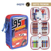 FILLED PENCIL CASE TRIPLE GIOTTO PREMIUM PVC CARS 3