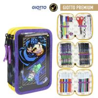 FILLED PENCIL CASE TRIPLE GIOTTO PREMIUM METALIZADA BATMAN