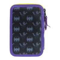 FILLED PENCIL CASE TRIPLE GIOTTO PREMIUM METALIZADA BATMAN 1