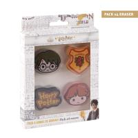 GOMA DE BORRAR PACK X4 HARRY POTTER