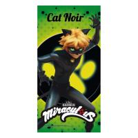 TOWEL COTTON LADY BUG CAT NOIR