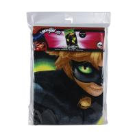 TOWEL COTTON LADY BUG CAT NOIR 1