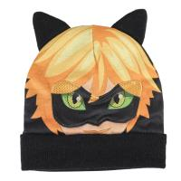 BONNET MASQUE LADY BUG CAT NOIR