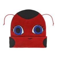 BONNET AVEC DES APPLICATIONS LADY BUG