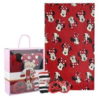 SET CADEAU PLAID MINNIE