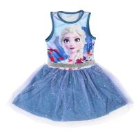 DRESS TULLE SINGLE JERSEY FROZEN 2