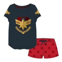 PIJAMA CURTO SINGLE JERSEY CAPTAIN MARVEL