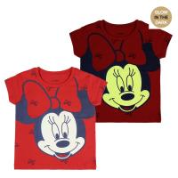 T-SHIRT PREMIUM MANCHES COURTES GLOW IN THE DARK SINGLE JERSEY MINNIE