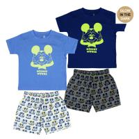 SHORT PAJAMAS GLOW IN THE DARK SINGLE JERSEY MICKEY