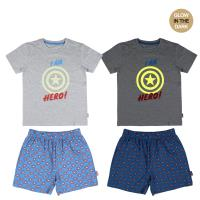 SHORT PAJAMAS GLOW IN THE DARK SINGLE JERSEY AVENGERS