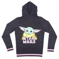 FELPA CON CAPPUCCIO COTTON BRUSHED THE MANDALORIAN THE CHILD 1