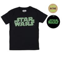CAMISETA CORTA GLOW IN THE DARK SINGLE JERSEY STAR WARS